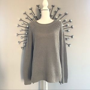 Forever 21 gray oversized sweater size small
